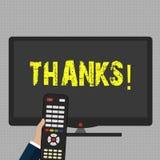 Escrevendo a nota que mostra agradecimentos Gratitude apresentando do reconhecimento do cumprimento da apreciação da foto do negó ilustração stock
