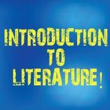 Escrevendo a nota que mostra a introdução à literatura Foto do negócio que apresenta o curso Collegepreparatory da composição obs ilustração do vetor