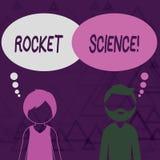 Escrevendo a nota que mostra Rocket Science Foto do neg?cio que apresenta a atividade dif?cil que voc? precisa de ser inteligente ilustração stock