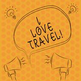 Escrevendo o curso do amor do showingI da nota Apresentar da foto do negócio seja um fã da viagem que vai em viagens descobrir os ilustração stock