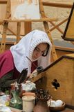 Escrevente medieval imagens de stock royalty free