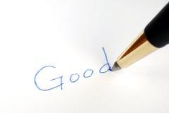 Escriba la palabra buena Fotografía de archivo libre de regalías