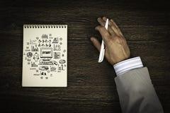 Escriba un plan empresarial foto de archivo libre de regalías