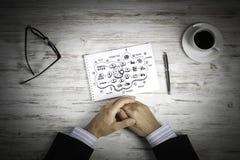 Escriba un plan empresarial fotos de archivo