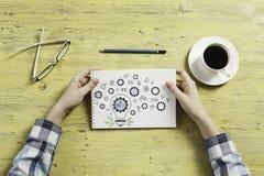 Escriba un plan empresarial fotografía de archivo