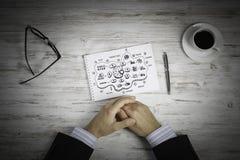 Escriba un plan empresarial foto de archivo