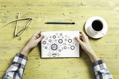 Escriba un plan empresarial imagen de archivo libre de regalías