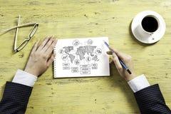 Escriba un plan empresarial fotos de archivo libres de regalías
