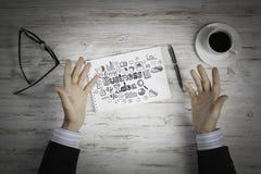 Escriba un plan empresarial imágenes de archivo libres de regalías