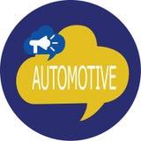 Escribiendo la demostración de la nota automotriz Foto del negocio que muestra relacionado automotor a los automóviles de los coc libre illustration