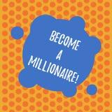 Escribiendo la demostración de la nota haga un millonario Foto del negocio que muestra para ser una demostración rica con las por stock de ilustración