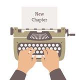 Escribiendo a una nueva historia el ejemplo plano Fotografía de archivo libre de regalías