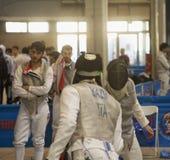 Escrimeurs aux championnats italiens Photo stock