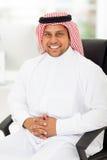 Escritório árabe do homem de negócios imagem de stock