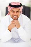 Escritório árabe do homem de negócios fotografia de stock royalty free