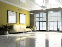 Escritório 3D interior Foto de Stock