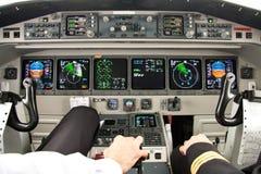 Escritório da cabina do piloto- do avião o melhor