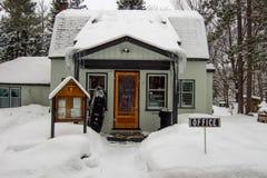 Escritório da estância de esqui, Orangeville, Dufferin foto de stock royalty free