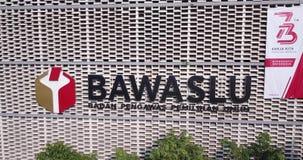 Escritório da placa supervisória da eleição indonésia video estoque