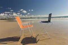 Escritório da praia Imagens de Stock Royalty Free