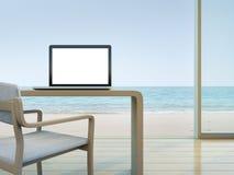 Escritório da praia Imagens de Stock