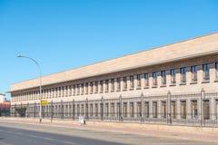 Escritório das ações e sul - serviços africanos do rendimento foto de stock