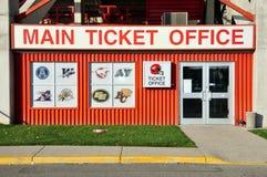Escritório de bilhete principal, estádio de McMahon Fotos de Stock