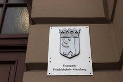 Escritório de imposto do kreuzberg e do friedrichshain Berlim Alemanha fotos de stock royalty free