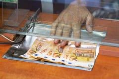 Escritório de troca da moeda Conceito da finança imagens de stock
