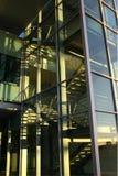 Escritório de vidro que buidling Fotografia de Stock