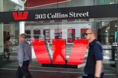 Escritório do banco de Westpac em Melbourne, Austrália imagem de stock