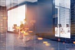 Escritório do espaço aberto, concreto, lado, pessoa Foto de Stock Royalty Free