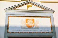 Escritório do presidente da república de Lituânia Vilnus Foto de Stock