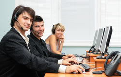 Escritório do serviço de atenção a o cliente Imagens de Stock Royalty Free
