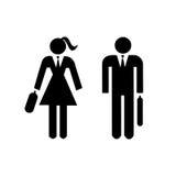 Escritório do trabalho do símbolo do pictograma do homem da senhora do ícone dos povos ilustração do vetor