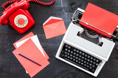 Escritório do vermelho do vintage fotos de stock royalty free