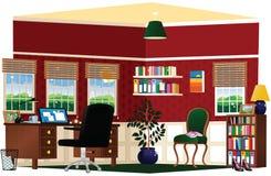 Escritório domiciliário e estudo Imagens de Stock