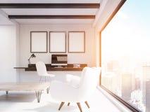 Escritório domiciliário no apartamento de New York City ilustração do vetor
