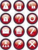 Escritório dos ícones Imagens de Stock Royalty Free