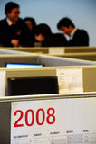 Escritório em 2008 Fotografia de Stock Royalty Free
