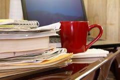 Escritório Home ocupado Fotografia de Stock