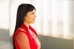 Escritório indiano da mulher de negócios Imagem de Stock