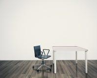 Escritório interior em branco mínimo Fotos de Stock