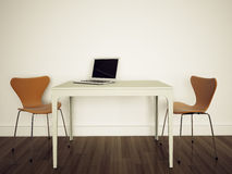 Escritório interior moderno Fotos de Stock Royalty Free