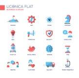 Escritório, linha fina moderna ícones do negócio do projeto e pictograma Imagens de Stock