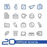 Escritório & linha série de //dos ícones do negócio imagem de stock