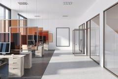 Escritório moderno, cartaz, portas de vidro Foto de Stock