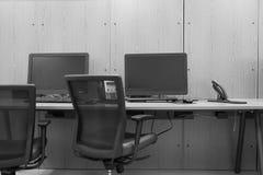 Escritório moderno com computador Foto de Stock