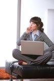 Escritório moderno da mulher de negócio Foto de Stock Royalty Free