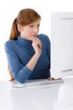 Escritório moderno - mulher de negócio nova Fotografia de Stock Royalty Free